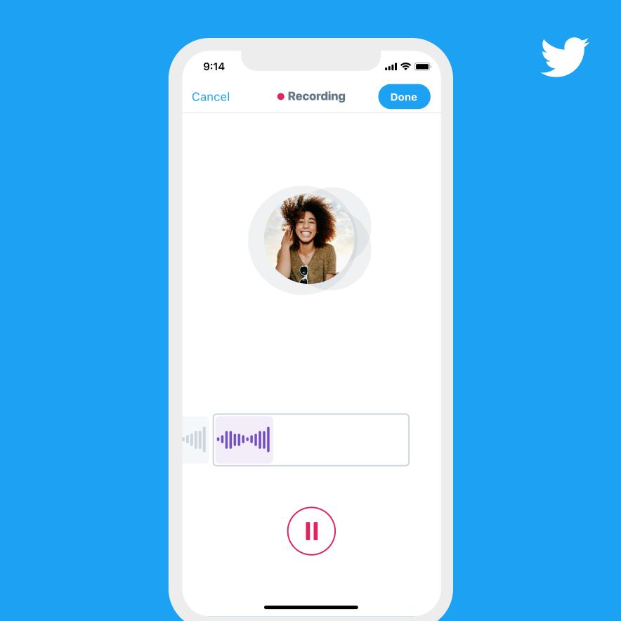 Twitter anuncia funcionalidad de tweets de voz