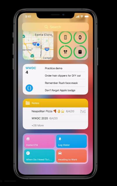 widgets - Apple presenta iOS14 e innovaciones en sistemas operativos de móviles