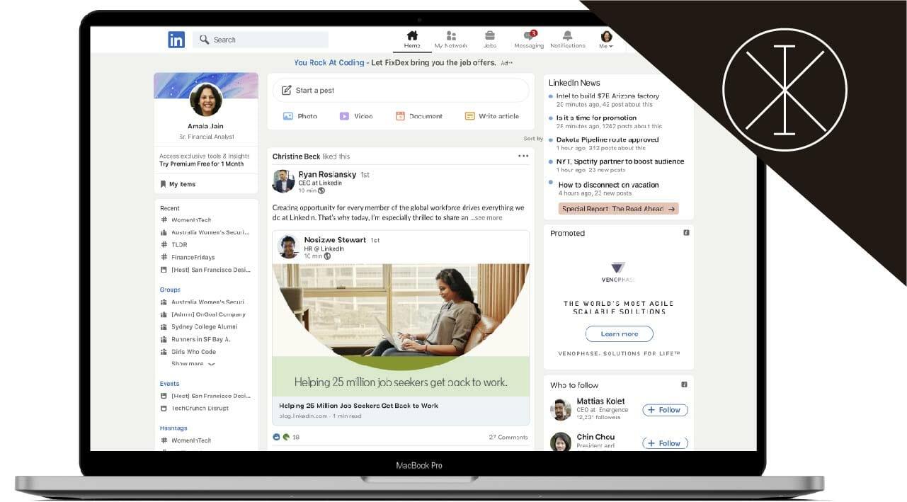 LinkedIn presenta rediseño de su plataforma