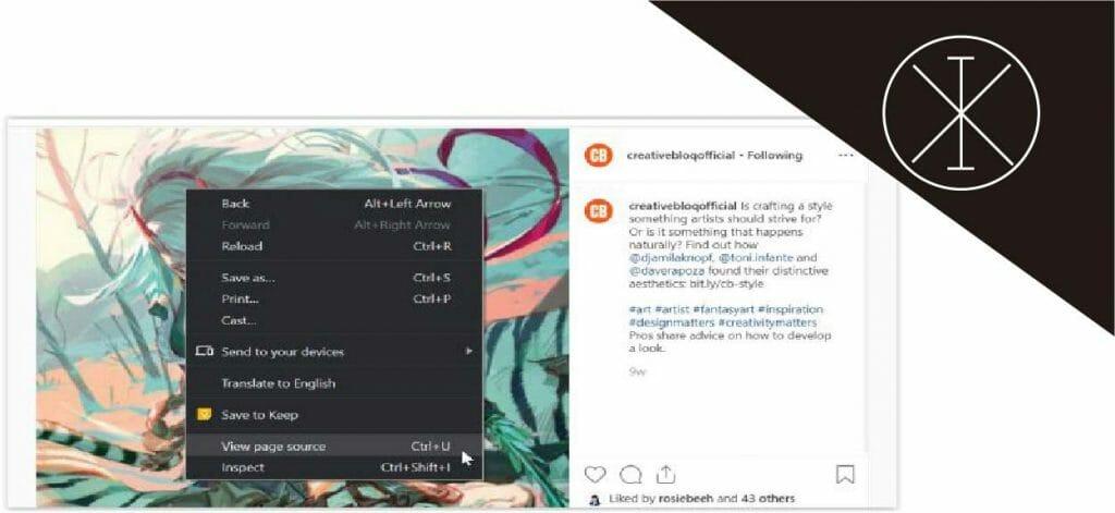 código fuente 1024x471 - Cómo descargar fotos de Instagram