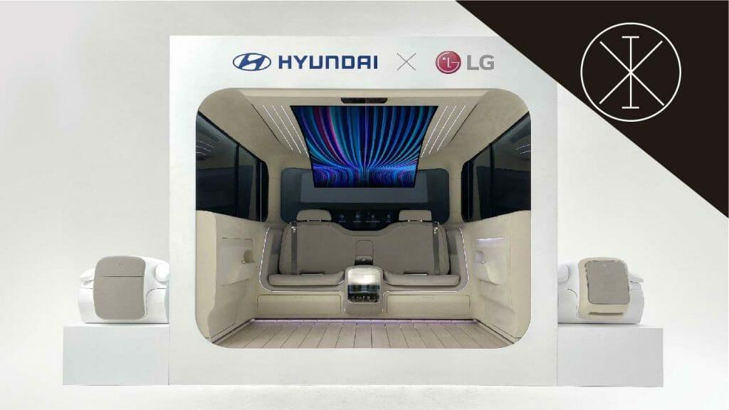 pantalla Oled flexible 1024x576 - LG y Hyundai presentan concepto Ioniq para autos eléctricos